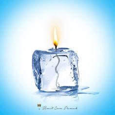 #umitcempamuk #ice #candle #photoshop #water
