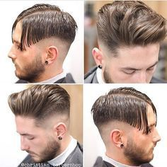 "9,695 Me gusta, 65 comentarios - Hair Man Styles (@hairmanstyles) en Instagram: ""Steps Haircut of four pictures ✂️#Haircut #Hairstyle #HairManStyles @christian_barbershop"""