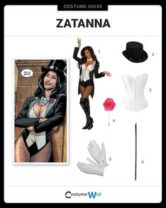 The best costume guide for dressing up like Zatanna Zatara, the superhero stage magician recruited by the DC universe Justice League. Superhero Costumes Female, Nerd Costumes, Got Costumes, Superhero Halloween, Vampire Costumes, Fancy Costumes, Super Hero Costumes, Halloween Horror, Halloween Outfits