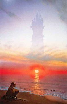 The Dark Tower ~ Stephen King Dark Tower Art, The Dark Tower Series, Sci Fi Fantasy, Dark Fantasy, Fantasy Places, Gunslinger Dark Tower, Dark Tower Tattoo, Hidden Art, King Book