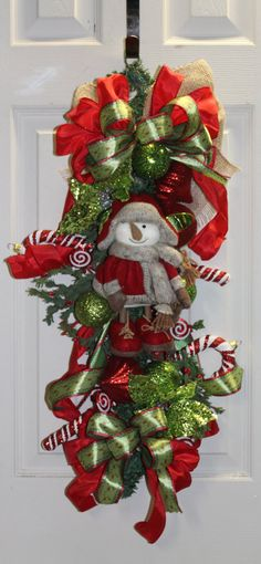 Winter Snowman Swag by southernchicbyle on Etsy