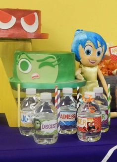 Inside Out birthday party cake! See more party ideas at CatchMyParty.com!