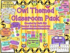This 116 page owl themed product was developed to provide the user with a classroom starter pack. The elements in the package are meant to meet the...