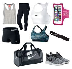 """""""Nike~at the Gym"""" by leahb109 ❤ liked on Polyvore featuring NIKE"""