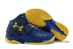 outlet store 03715 d83cc Cheap Under Armour Curry 2 Dub Nation Cobalt Academy-Taxi Authentic