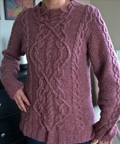 Cable Sweater free pattern from Bernat