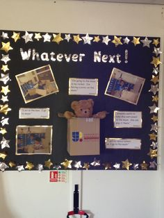 paws border, house in middle, 3 bears pictures on, photos of kids tasting, quotes the kids said, examples of writing and number work