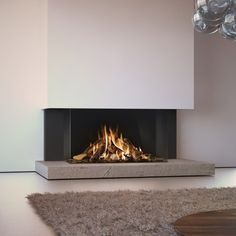 Modern Fireplace Design Ideas Perfect For This Winter, – Modern brick fireplace Living Room Decor Fireplace, Home Fireplace, Brick Fireplace, Fireplace Surrounds, Fireplace Modern, Fireplace Ideas, Contemporary Fireplace Designs, Wood Burning Fireplace Inserts, Traditional Fireplace