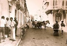 Zabbar,Malta. When horses and bicycles were the usual mode of transport. Photo by Frank Lea-Ellis.
