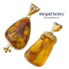 Innovation from the gold factory : Amber Pendant