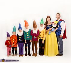 Snow White and the Seven Dwarfs - Family Halloween Costume Idea