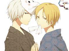 Gin (Hotarubi no Mori e) and Natsume (Natsume Yuujinchou) #anime