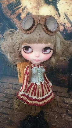 最近、カスタムブライスちゃんにハマってます(*^ー^)ノ♪私の作った作ったブライスちゃんです。