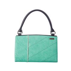 The Elaine for Classic Bags is like a breath of fresh air for your accessories wardrobe. Rich textured faux leather in the perfect shade of mint green features eye-catching diagonal stitching and white piping. Make a dramatic entrance by pairing Elaine with a black blouse or your favorite white sweater.    $24.95