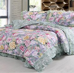 Gorgeous Adorable Floral Print Bed in a Bag Set  on sale, Buy Retail Price Flower Bed in a Bag at Beddinginn.com