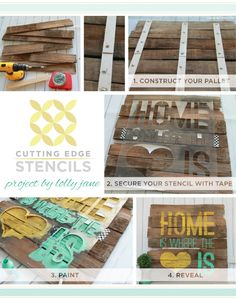 Hometalk :: Cutting Edge Stencils Provides Simple Steps to Create Stenciled Wood A…