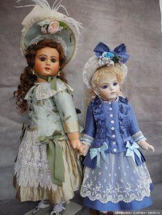 Роскошная реплика антикварной куклы Брю 11 от Jamie Englert / Винтажные антикварные куклы, реплики / Бэйбики. Куклы фото. Одежда для кукол