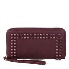 Prue vegan zipper wallet - Berry