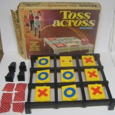 Vintage c. 1970 and rarer Toss Across game by BuyfromGroovy