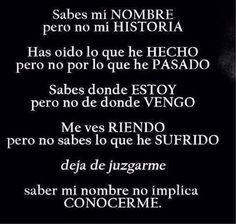 """#Linkedin #JuandeDiosIñiguez   """"saber mi nombre no implica conocer mi historia, mis experiencias...; no juzgues"""""""