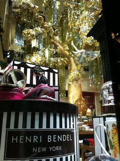 Christmas Window at Henri Bendel on 5th Avenue