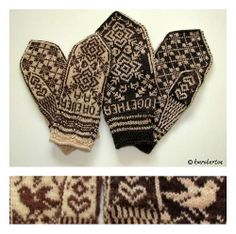 Ravelry: Project Gallery for Together Forever Wedding Mittens pattern by Mari Holm Ingelsrud-free pattern