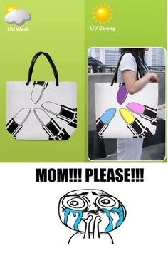 "mom please - kwejk,pl  ""I want this bag mom!!!"""