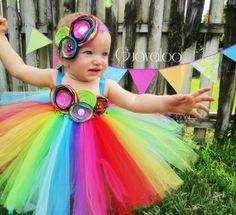 Rainbow Tutu Dress, Candy, Birthday Outfit, 1st Birthday, Cake Smash, First Birthday