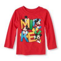 Long Sleeve Disney 'Mickey' Graphic Tee