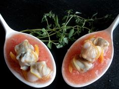 Aquí se cocina: Cucharitas de aperitivo Appetizer Salads, Appetizers, Empanadas, Catering, Sushi, Salmon, Eggs, Breakfast, Healthy