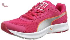Puma Descendant v3 Wn - Chaussures de Running - Femme - Rouge (Rose Red/Puma Silver/Fluo Peach) - 44 EU (9.5 UK) - Chaussures puma (*Partner-Link)