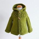 Top Down Baby & Childs Cable Yoke Jacket Pattern sold on Cottonandcloud.com