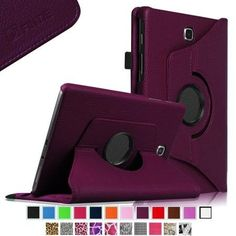 Fintie Rotating Case Stand Cover for Samsung Galaxy Tab A 8.0-inch Tablet SM-T350 (Dual Auto Sleep/Wake), Purple
