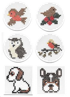 Mini Cross Stitch, Simple Cross Stitch, Cross Stitch Animals, Cross Stitching, Cross Stitch Embroidery, Cross Stitch Patterns, Sewing Cards, Marianne Design, Baby Knitting Patterns