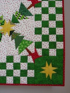 This was my fourth annual Christmas quilt. My desire when designing the quilt was to feature Christmas trees in a kaleidoscopic pattern. And to add to the challenge, I avoided using any overtly Christmas-themed fabrics. This quilt received a blue ribbon in the 2008 Glendale (CA) Quilt Guild quilt show. It was accepted into the Country Living Classics quilt collection, sponsored by Country Living magazine, and went on a national tour beginning at the 2008 Fall International Quilt Festival in…
