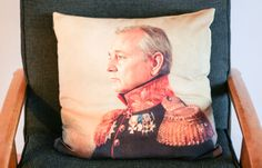 Bill Murray Pillow  I Love Saturdays : Design*Sponge home tour of Brisbane (now NY based) writer Kristy Chambers by Joanne Thies  #designsponge #joannethies #kristychambers