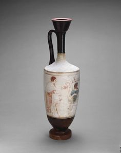 Greek, Attica Attributed to the Reed Painter Lekythos (Oil Bottle), 410/400 B.C.
