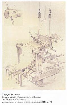 Ткацкий станок - татары мишари.  Tatar weaving loom