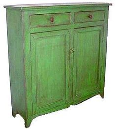 Apple Green jelly cupboard by The Maine Pie Safe Company