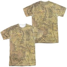 Lor - Middle Earth Map Adult All Over Print 100% Poly T-Shirt
