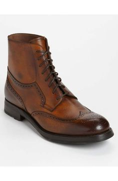 The Best Men's Shoes And Footwear : Sassetti Wingtip Boot Dress With Boots, Dress Shoes, Dress Clothes, Der Gentleman, Fashion Shoes, Mens Fashion, Mode Masculine, Well Dressed Men, Men S Shoes