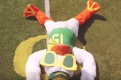 With students around the country going back to school and football season quickly approaching, Oregon Ducks mascot Puddles made a video to get students to pledge their allegiance to the best house at Oregon— Autzen  Stadium...