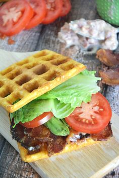 Cornbread Waffle BLT's with Garlic Aioli    The Housewife in Training Files