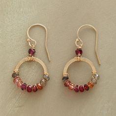 BLUSH SPECTRUM EARRINGS - Hoop - Earrings - Jewelry | Robert Redford's Sundance Catalog