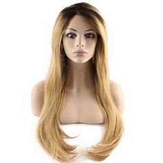 Synthetic None-lacewigs Hearty 28 Long Straight Wigs For Women Heat Resistant Falt Bangs Natural Ombre Wig Cosplay Costume Party Synthetic Hair Mapofbeauty Convenience Goods