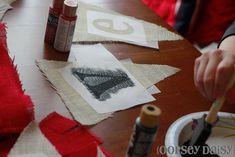freezer paper=iron on stencil paper