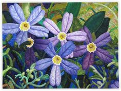 Alpine Forget-Me-Nots by Annette Kennedy.  Front Range Contemporary Quilters.