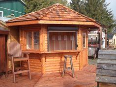 Flamborough Patio Furniture Highway 6 Hamilton - Outdoor Cedar Bar Unit Bar Unit, Hamilton, Gazebo, Outdoor Structures, Cabin, House Styles, Furniture, Home Decor, Kiosk