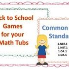 This set includes nine different games aligned with the common core and are great for the beginning months of school. All of the games have a cover...