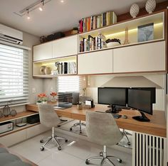 Top 10 Stunning Home Office Design Small Home Offices, Home Office Space, Home Office Decor, Home Decor, Guest Room Office, Bedroom Office, Office Interior Design, Office Interiors, Small Workspace